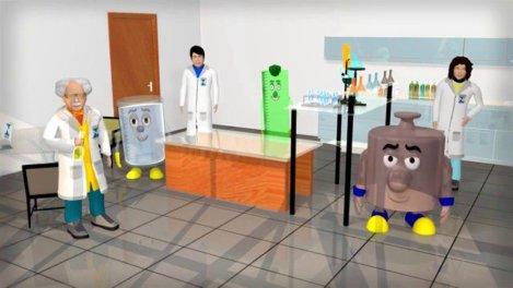 Vídeo infantil educativo em animação 2D e 3D