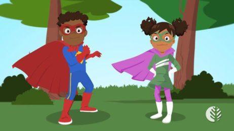 Vídeo infantil educativo em animação 2D.