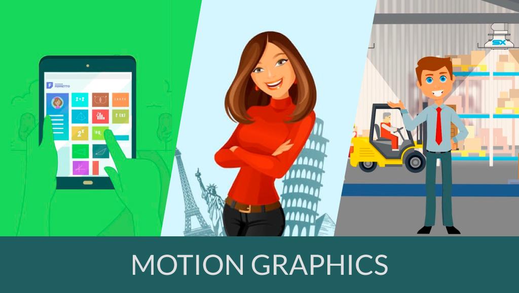 Exemplos incríveis de motion graphics
