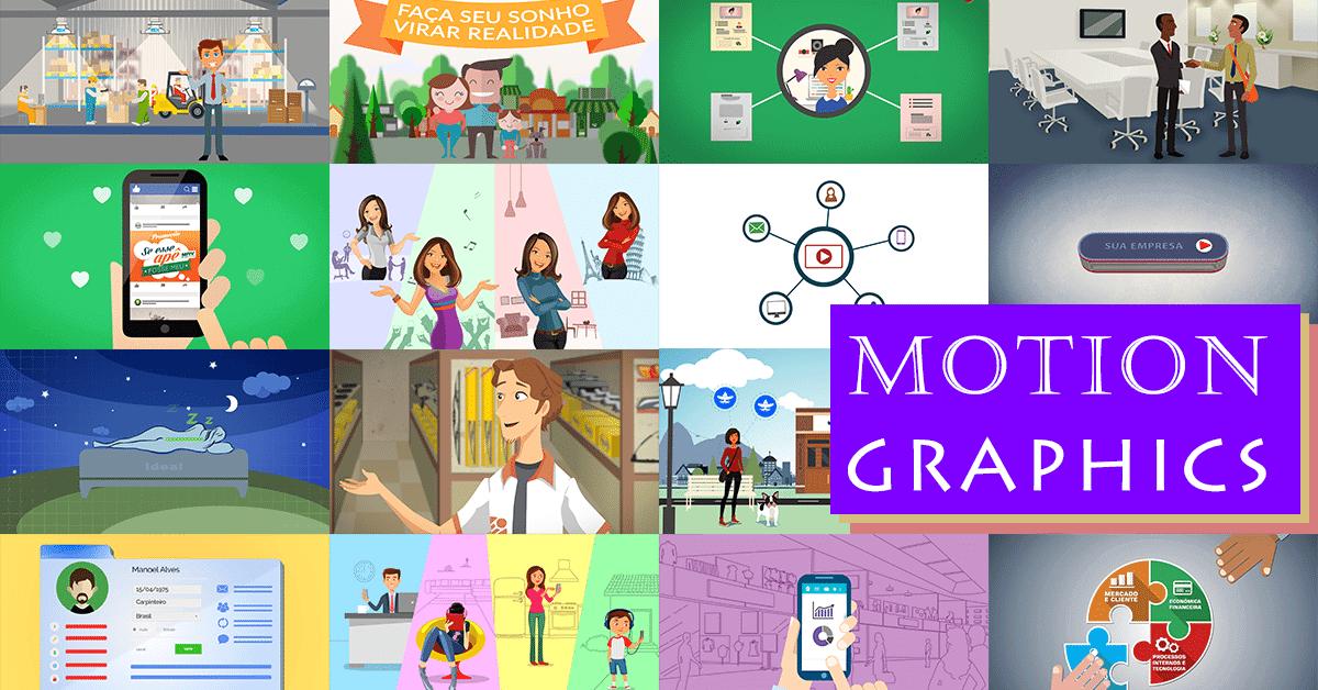 Exemplos incríveis de vídeos em Motion Graphics