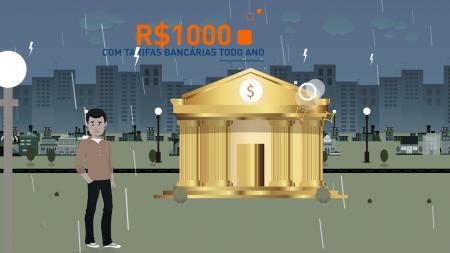 """Banco Intermedium """"Isenção de Tarifas"""" – Propaganda Web em Motion Graphics"""