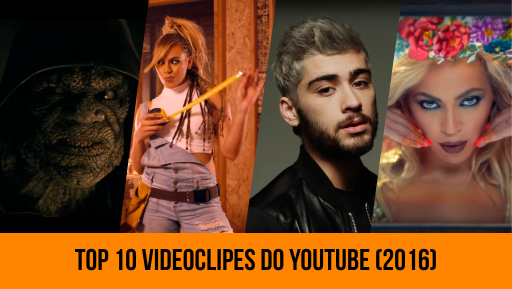 Top 10 videoclipes mais vistos no Youtube em 2016